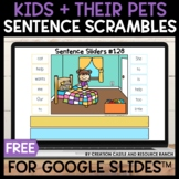 Sentence Building for Google Slides™: Kids and Their Pets