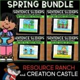 Sentence Building for Google Slides™: Spring Bundle