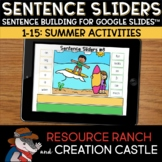 Sentence Building for Google Slides™: Summer Activities
