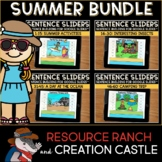 Sentence Building for Google Slides™: Summer Bundle