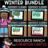 Sentence Building for Google Slides™: Winter GROWING Bundle