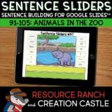 Sentence Building for Google Slides™: Zoo Animals