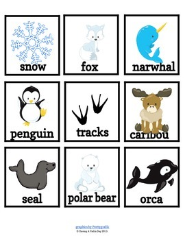 Sentence Building for Little Learners- Arctic Animals