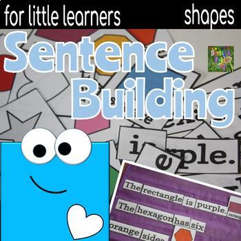 Sentence Building for Little Learners- Shapes and Colors