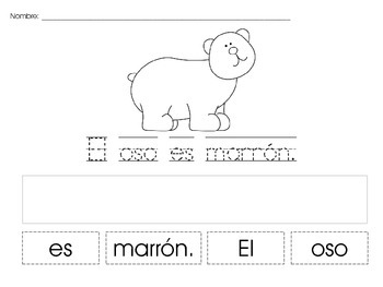 Sentence Building in Spanish