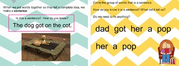 Sentence Building or Meaningful word groups Mimio