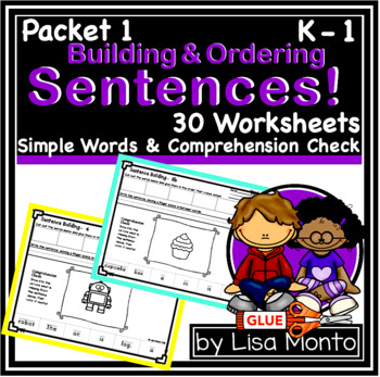 Sentence Building (set 1) by Lisa Monto