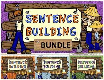 Sentence Building - the Bundle:  Fall, Winter, Spring