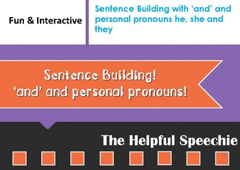 Sentence Building with Coordinating conjunction 'and' and personal pronouns he,