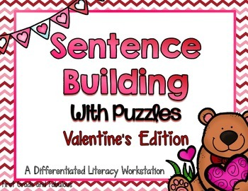 Sentence Building with Puzzles--Valentine's Edition