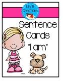 "Sentence Cards - ""I am"""