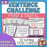 Sentence Challenge Task Cards: Open-Ended Practice for Gra