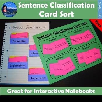 Sentence Classification Card Sort