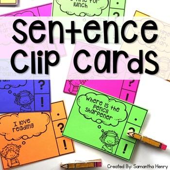 Sentence Clip Cards