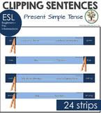 Sentence Clip Cards Present Simple Tense