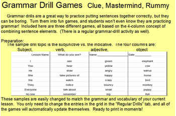 Sentence Combining Games CUSTOMIZABLE: Clue, Mastermind, Rummy