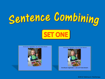 Sentence Combining (Set One)