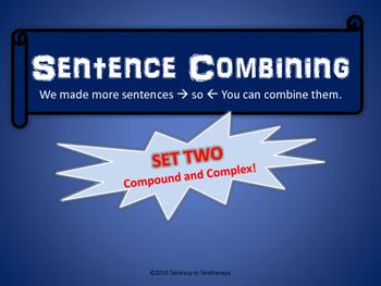 Sentence Combining (Set Two)