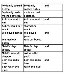 Sentence Combining Sort