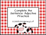 Sentence Completion Center - Adjective Focus