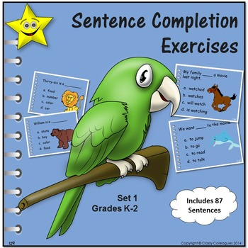 Sentence Completion Exercises, Review and Test Prep