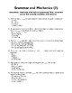 Sentence Completion, Structure, & Grammar Review. MCQs Worksheets. Gr 11-12
