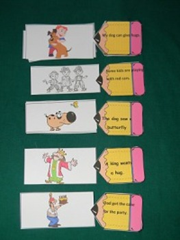 Sentence Comprehension Literacy Center Classroom resorce tool- Hard Good