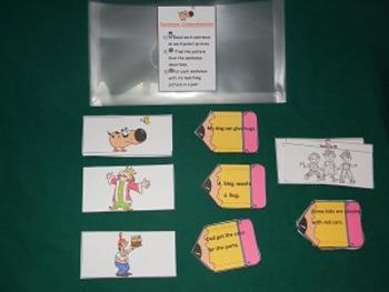 Sentence Comprehension Literacy Center Classroom resorce t