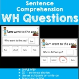 Sentence Comprehension-WH Questions Set 3