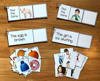 Sentence Comprehension and Matching Activities with Real Photos