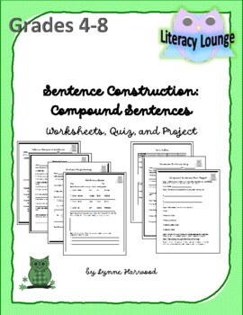 Sentence Construction:  Compound Sentences (Worksheets, Qu