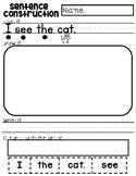Sentence Construction - Kindergarten Sight Words