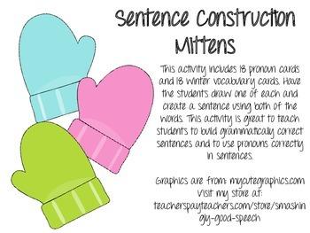 Sentence Construction Mittens