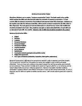 Sentence Construction Project