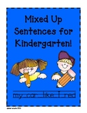 Sentence Conventions Practice For Kindergarteners