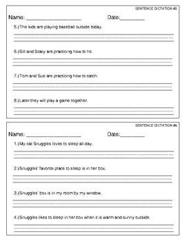 Sentence Copying Practice