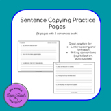 Sentence Copying Practice - large lined, full page