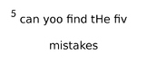 Sentence Correcting
