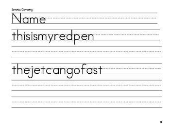 Sentence Correcting Sheets