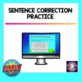 Sentence Correction Practice on BOOM Cards   Distance Learning