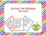 Correct the Sentence Task Cards
