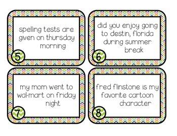 Sentence Correction Task Cards