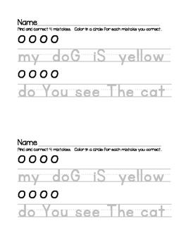 Sentence Corrections