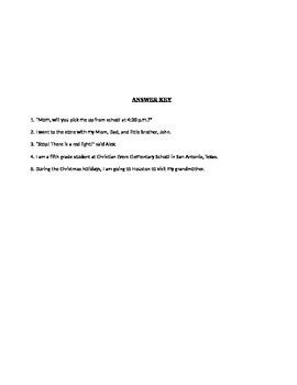 Sentence Corrections Quiz