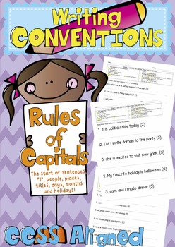 Sentence Corrections - Rules of Capitals (Writing Conventions CCSS Aligned)