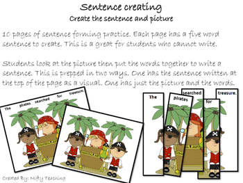 Sentence Creating- Pirate Themed