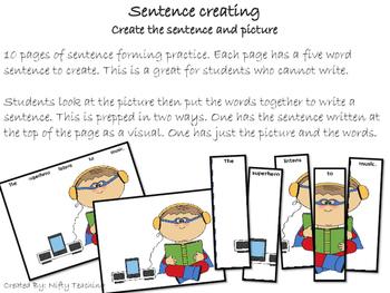 Sentence Creating- Superhero Themed