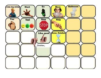 Sentence Creation Photo Board