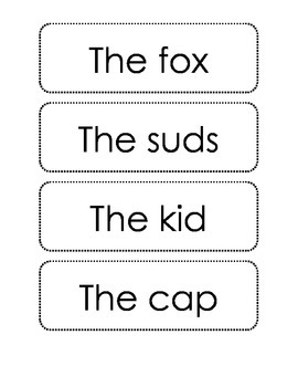 Sentence Creations (short vowel sounds)