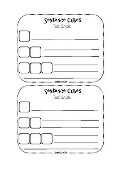 Sentence Cubes for Adults